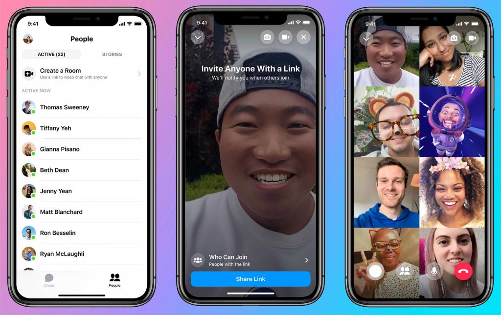 Facebook lança serviço de videoconferência para 50 pessoas